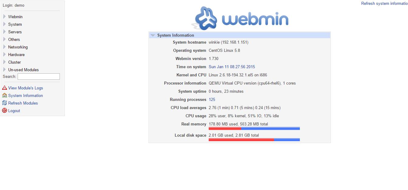 Webmin – Tech and Me